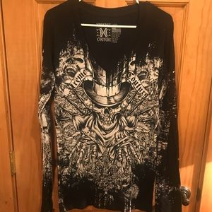 NWT Xtreme Couture Long Sleeve Tee Sz L